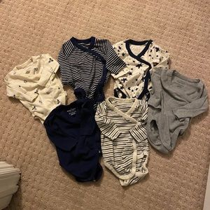 SIX Hanna Andersson Bodysuits & THREE Wiggle Pants